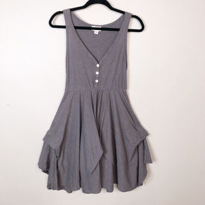 Anthro by PUELLA Asymmertrical Dress Size M Taupe